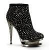 FASCINATE-1011 Black Suede/Pewter Chrome